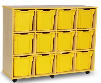 Coloured Edge 12 Jumbo Tray Storage Mobile