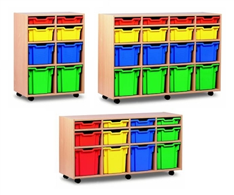 Variety Plastic Tray Storage - Mobile
