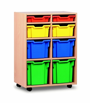 Variety 8 Tray Storage Unit Mobile