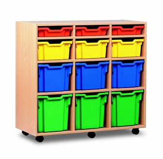 Variety 12 Tray Storage Unit Mobile 4 High