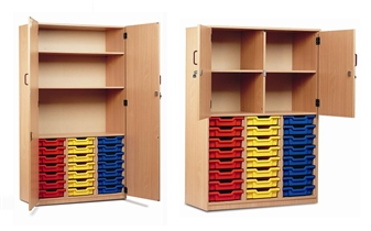 Part-Filled Plastic Tray Storage Cupboards