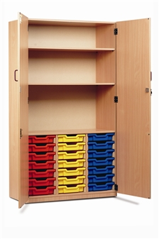 Part-Filled Tray Storage Cupboard 21 Trays