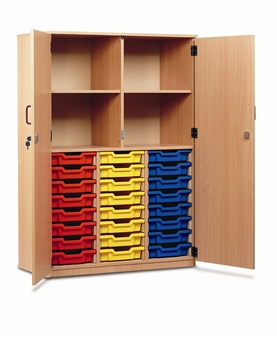 Part-Filled Tray Storage Cupboard 24 Trays