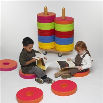 Donut Seat Trolley With 24 Donut Cushions