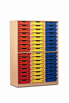 Tray Storage Cupboard 48 Trays - Open