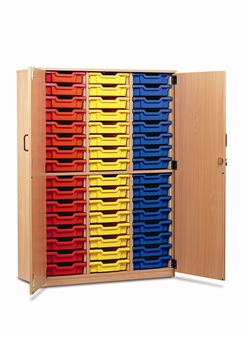 Tray Storage Cupboard 48 Trays + Doors
