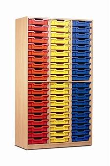 Tray Storage Cupboard 60 Trays - Open