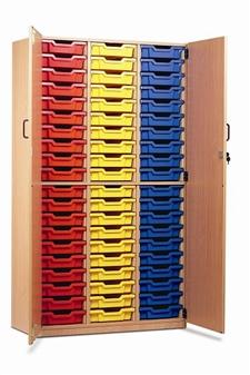 Tray Storage Cupboard 60 Trays + Doors