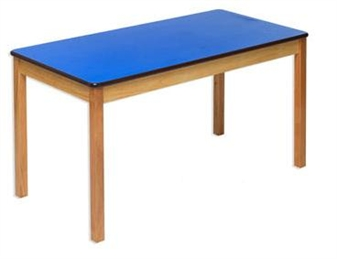 Blue Rectangular Classroom Table