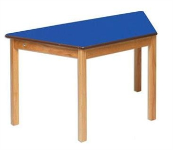 Blue Trapezoidal Classroom Table