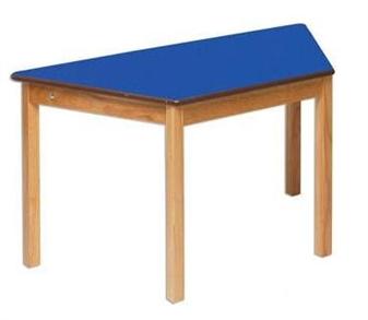 Blue Trapezoidal Classroom Table