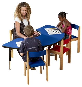 Height-Adjustable Arc Table - Blue