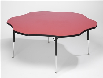 Height-Adjustable Flower Table - Red