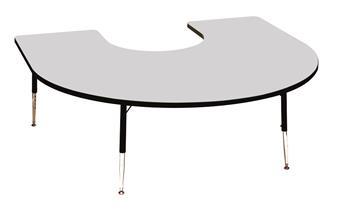 Height-Adjustable Horseshoe Table - Blue