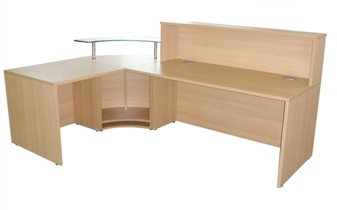 Reception Counter Desk - Behind View