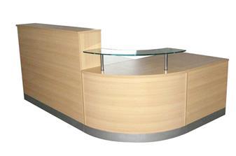 Oak Reception Counter Desk