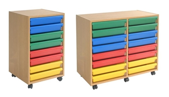 Mobile Plastic A3 Art Tray Wooden Storage Units