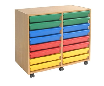 Mobile 16 A3 Art Tray Storage Unit