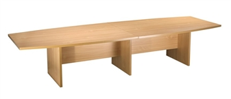 3.6m Boat-Shaped Boardroom Table - Beech