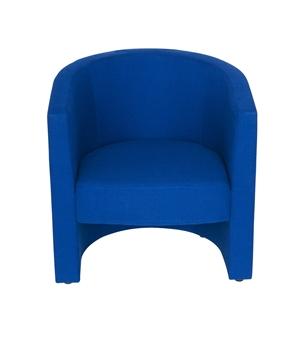 Tub Reception Chair In Blue Fabric