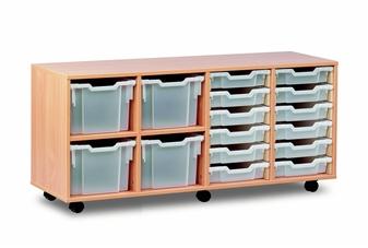 Combi Storage Unit - 4 Extra Deep & 12 Shallow Trays