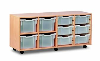 Combi Storage Unit - 4 Extra Deep & 6 Deep Trays