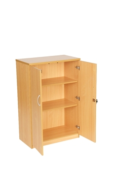 1200mm High Cupboard - Beech