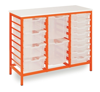 Low Metal Frame Static Storage Unit - Tangerine Frame