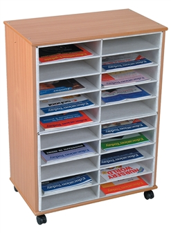 20 Section Pigeon Hole Literature Sorter - Mobile
