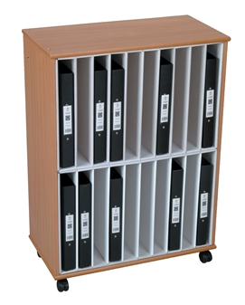 20 Section A4 Ring Binder Storage Unit - Mobile
