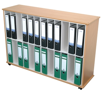 24 Section Lever Arch File Storage Unit - Mobile