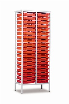 Tall Metal Frame Static Storage Unit - 38 Trays