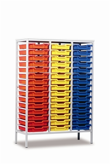 Tall Metal Frame Static Storage Unit - 45 Trays
