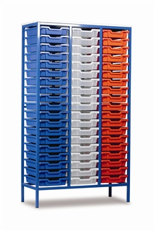 Tall Metal Frame Static Storage Unit - 57 Trays