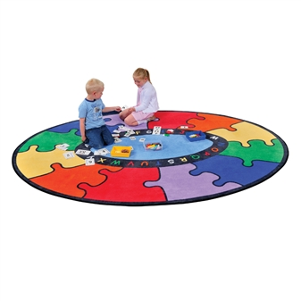 Oval Puzzle Rug