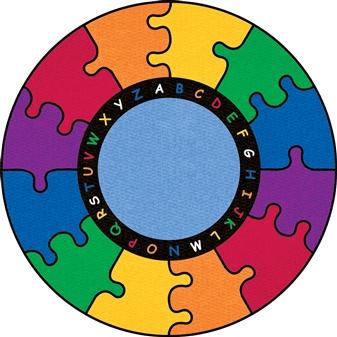 Round Puzzle Rug