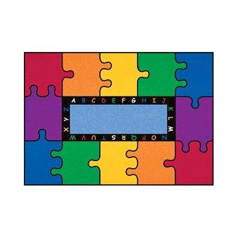 Rectangular Puzzle Rug