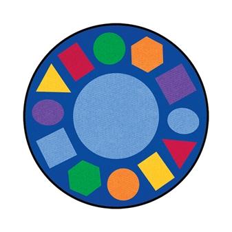 Round Geometric Rug