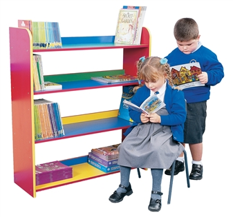 Early Years Coloured Bookcase - Four Shelves