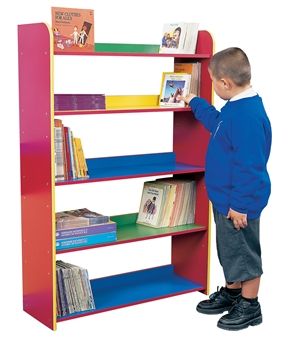 Early Years Coloured Bookcase - Five Shelves