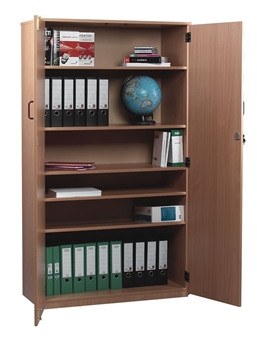 Lockable Wooden Storage Cupboard 1810mm High
