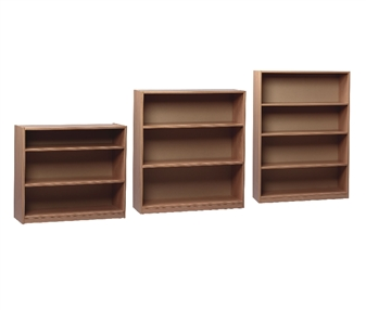 Beech Wooden Open Bookcases 900mm Wide