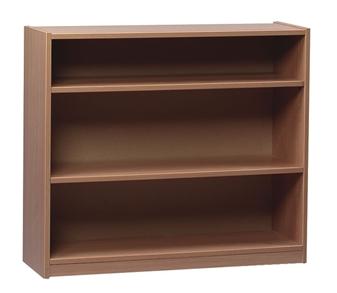Beech Wooden Open Bookcase 750mm High