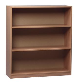 Beech Wooden Open Bookcase 1000mm High