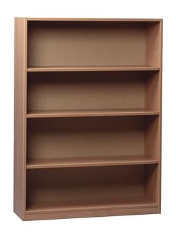 Beech Wooden Open Bookcase 1500mm High