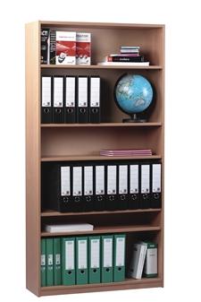 Beech Wooden Open Bookcase 1800mm High