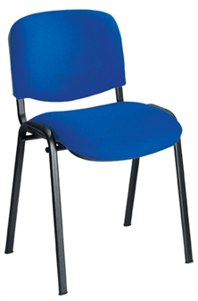 Royal Blue Fabric Stacking Chair With Black Frame