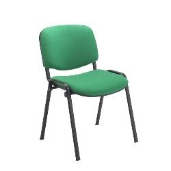 Green Fabric Stacking Chair Black Frame