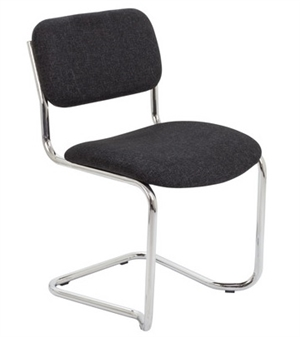 Cantilever Meeting / Conference Chair Charcoal Fabric