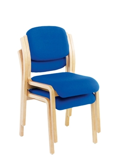 Woodframe Side Chair - No Arms - Stacking